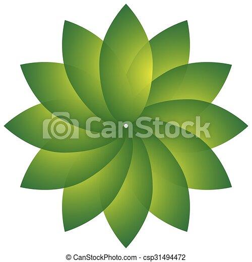 motivo, naturaleza, forma., natural, ambiente, hoja, concepts., circular - csp31494472