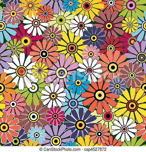 Motley seamless floral pattern - csp4527872