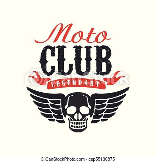 Moto Club Logo Design Element For Motor Or Biker Club Motorcycle