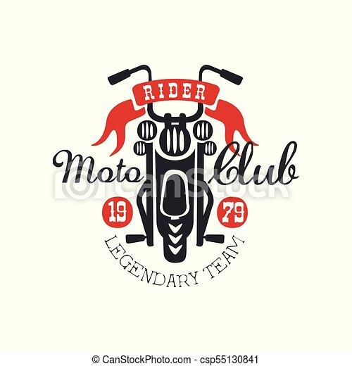 Moto Club Logo Legendary Team 1979 Design Element For Motor Or