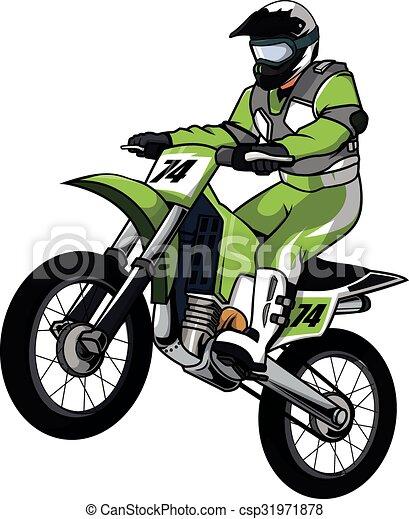 moto cross vector illustration design rh canstockphoto com motocross clipart vector motocross clip art free vector