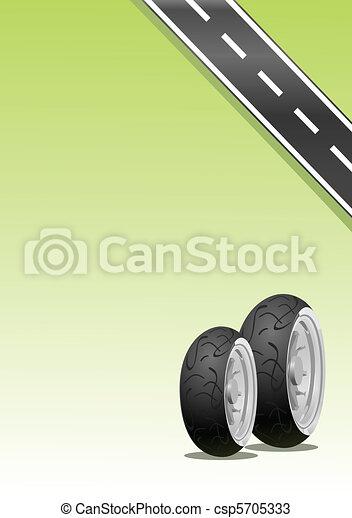 motocicleta, neumático - csp5705333