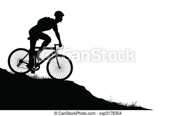 Motociclista de montaña - csp3178354