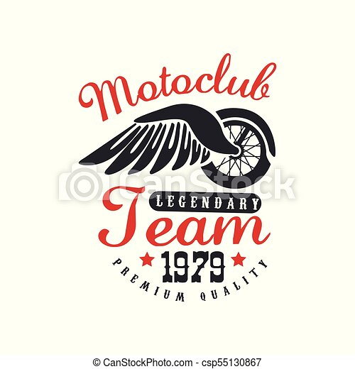 Motoclub Logo Design Element For Motor Or Biker Club Motorcycle