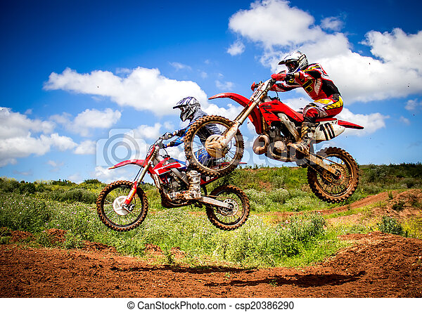 motocross, jeźdźcy - csp20386290
