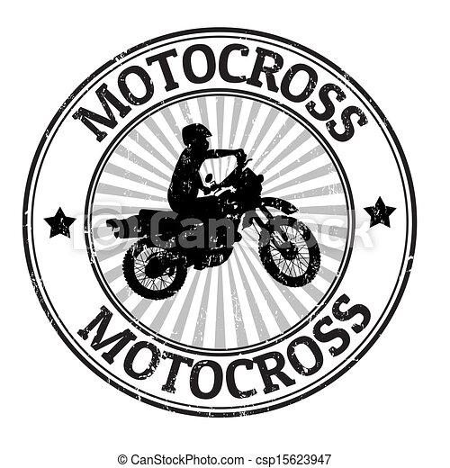 Motocross stamp - csp15623947