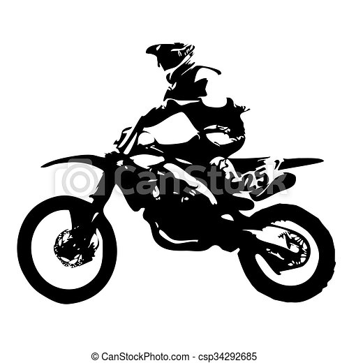 Motocross Dirt Bikes Silhouette Two Motorcycles Jumping