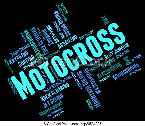 Motocross Words Indicates Text Race And Enduro - csp28531238