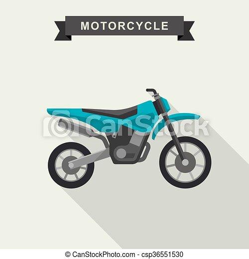 Motoctoss enduro bike. - csp36551530