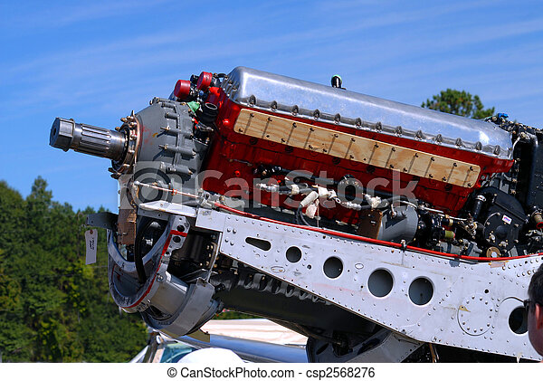 motor, årgång, airplane - csp2568276