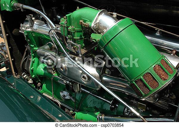 motor, årgång bil - csp0703854