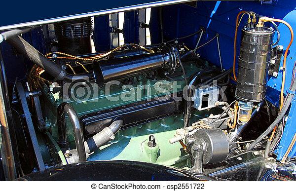 motor, årgång bil - csp2551722
