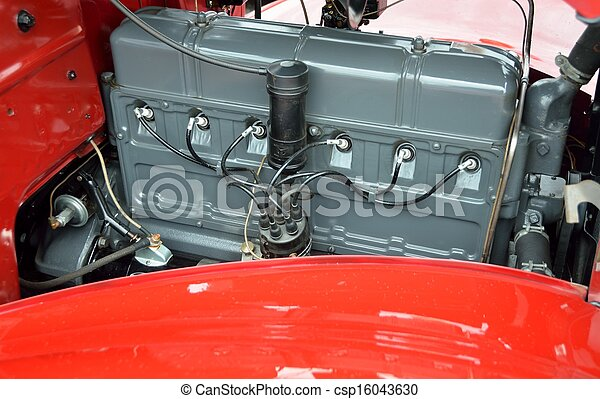 motor, årgång bil - csp16043630
