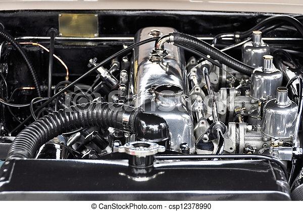 motor, årgång bil - csp12378990