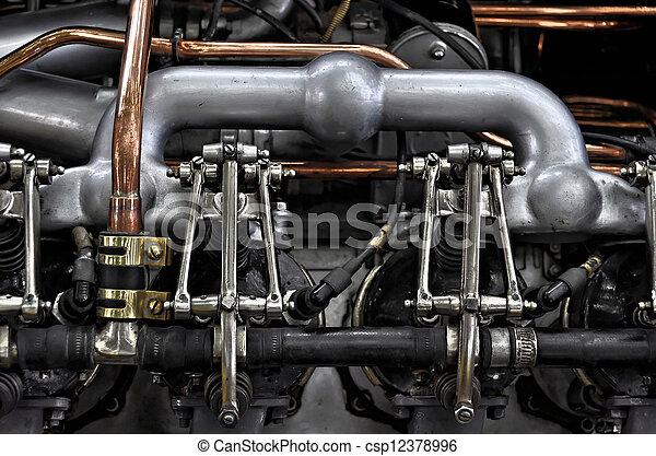 motor, årgång bil - csp12378996