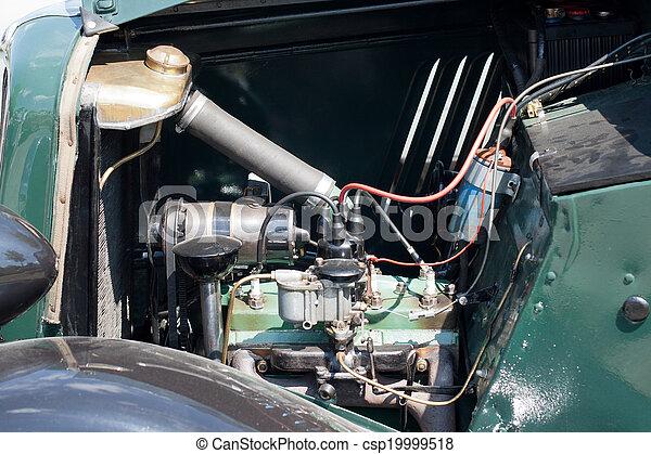 motor, årgång, specificera, bil - csp19999518