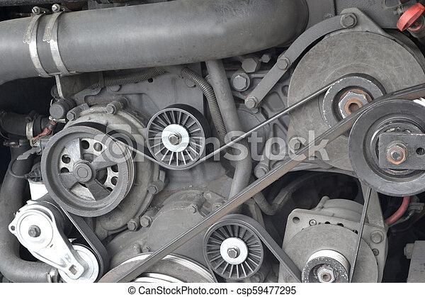Motor de autobús - csp59477295