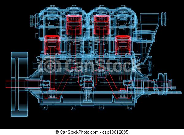 Motor de combustión interna - csp13612685