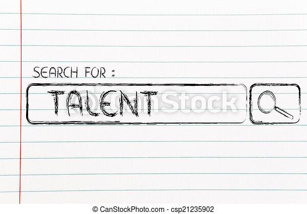 Barra de motor de búsqueda, busca talento - csp21235902