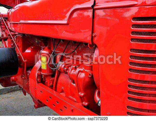 motor, blanka röda, traktor - csp7373220