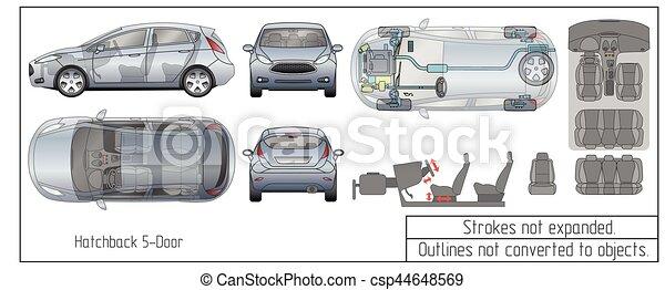 Motor, blaupause, autoteile, zeichnung, inneneinrichtung,... Clipart ...