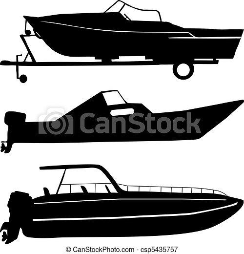Motor boats - csp5435757