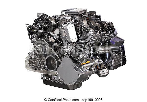 motor, car, híbrido, isolado, v6, branca - csp19910008