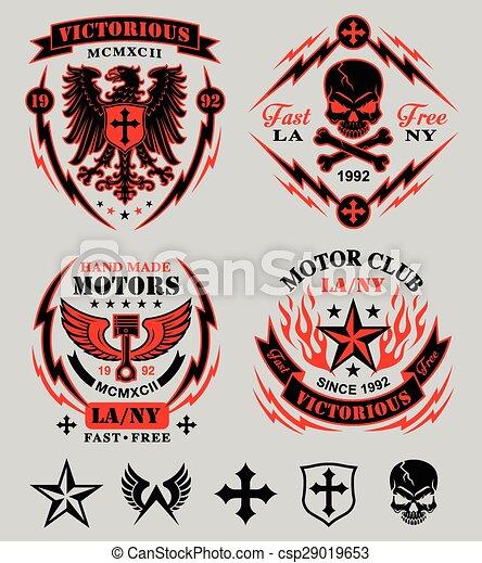 Motor club emblem set - csp29019653