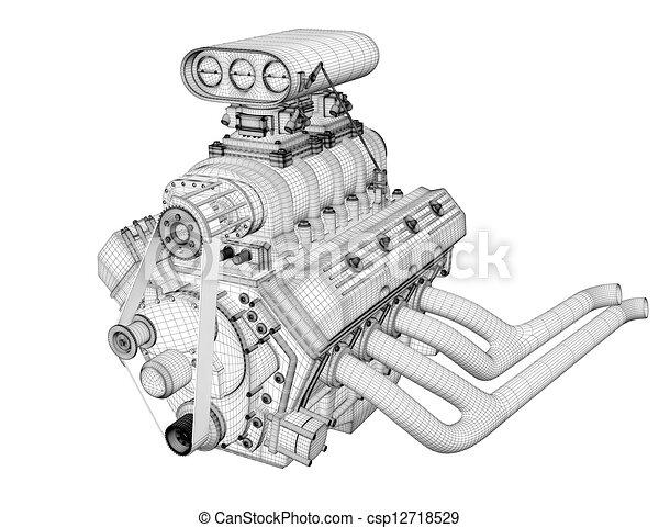 Worksheet. Clip art de motor gasolina  3D render marco gasolina motor