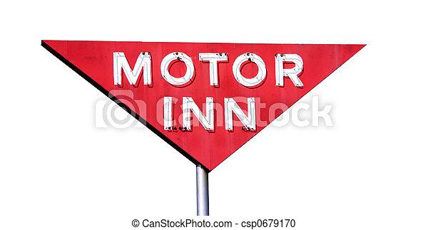 Motor Inn Isolated - csp0679170