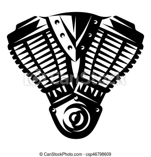 Ilustración De Motor De Motocicleta Ilustración De