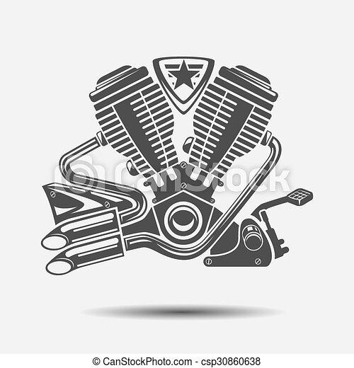 Motor De Coche O Motor De Moto Icono Negro Motor De Energía