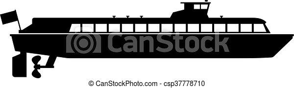 Motor ship - csp37778710