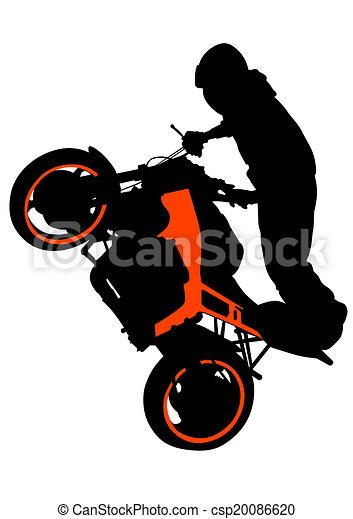 Motor sport biker - csp20086620