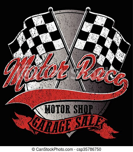 Motor sports logo graphic design  - csp35786750