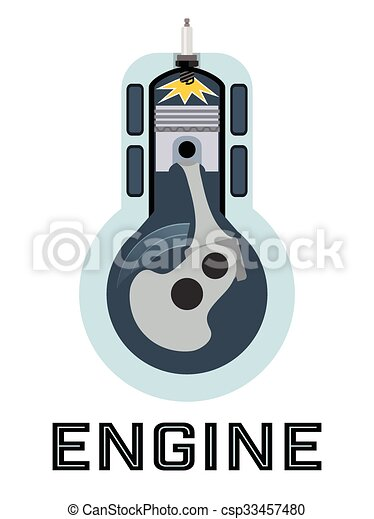 Motor, symbol, -, moto, moment, zündung, kraftstoff.