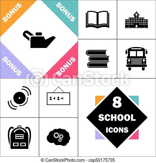 Motor, symbol, oel, edv. Perfekt, motor, schule, satz, lehrbücher ...