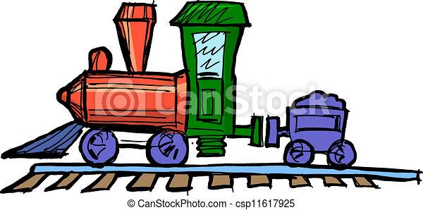 motor, trem brinquedo, vapor - csp11617925