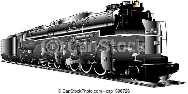 Locomotora de trenes de vapor - csp1396726