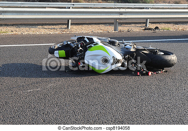 Motorbike Bicycle Road Accident - csp8194058