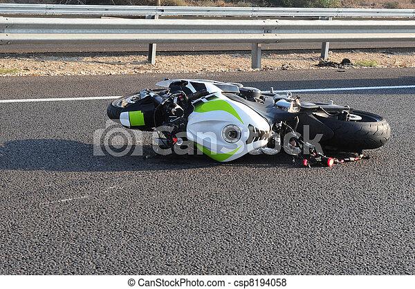 Motorbike Bicycle Road Accident - csp8194058