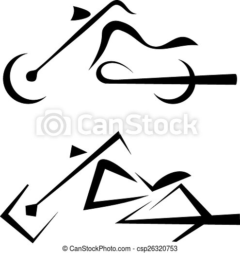 motorbike symbol, tattoo - csp26320753