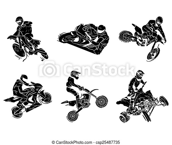 Motorbike tattoo Collection - csp25487735