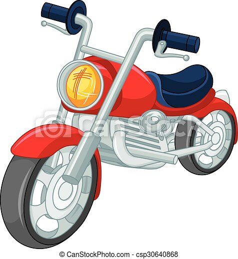 motorcycle illustration of red motorcycle clip art vector search rh canstockphoto com clip art motorcycle helmets clip art motorcycle racing