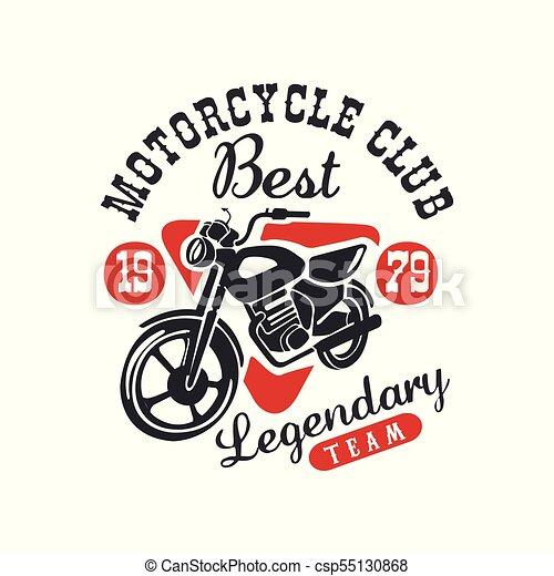 Motorcycle Club Logo Best Legendary Team Design Element For Motor