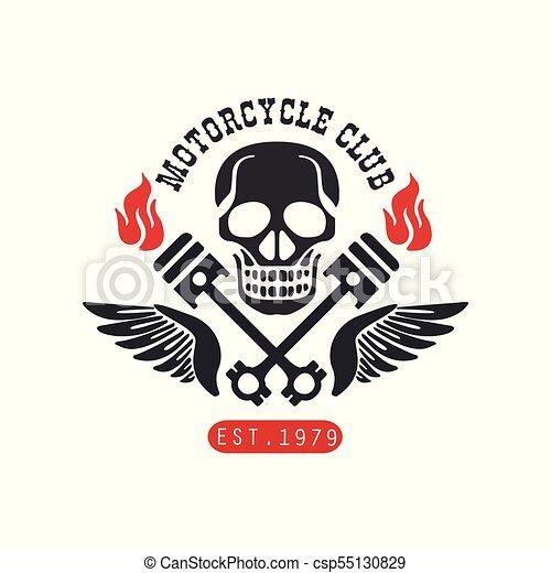 Motorcycle Club Logo Est 1979 Design Element For Motor Or Eps