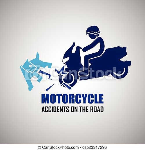 motorcycle crash clipart  Motorcycle crash and accidents icons.