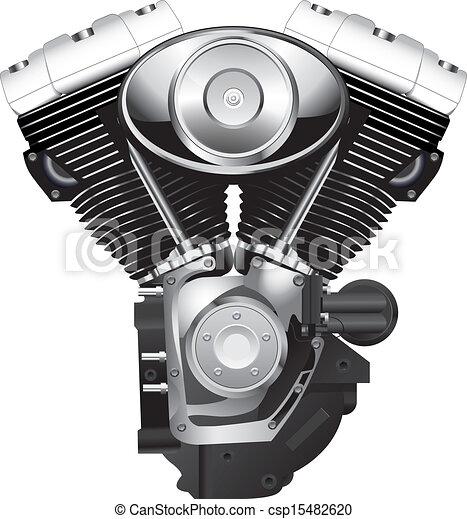 Retro motorcycle engine.