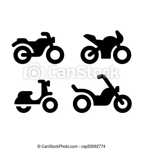 motorcycle icon set simple and modern motorcycle vector icon set rh canstockphoto com motorcycle vector free download motorcycle vector silhouette