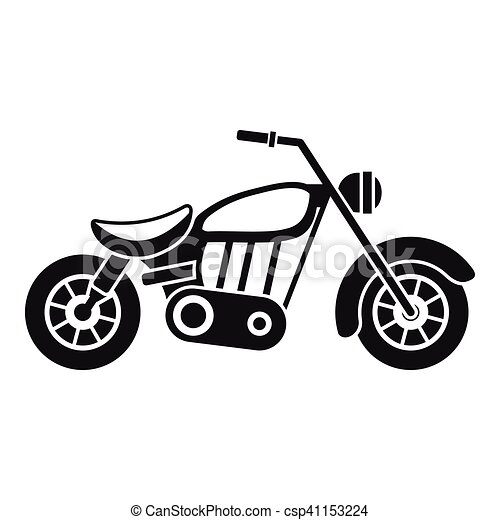 Motorcycle Icon Simple Style Motorcycle Icon Simple Illustration